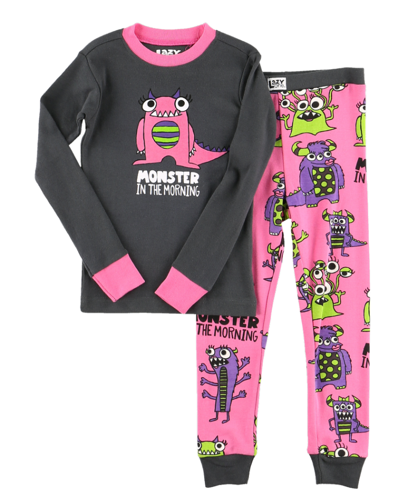 Monster in the Morning - Girls Long Sleeve PJ Set - Lazy One®